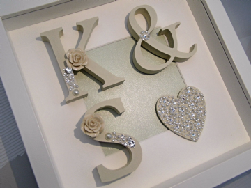 Wedding Initial Shadow Box Frame